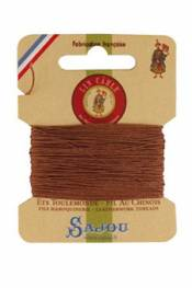 Waxed cable linen size 832 10m card - Colour 330 - Fawn