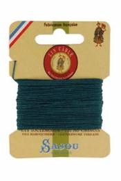 Waxed cable linen size 832 10m card - Colour 750 - Peacock