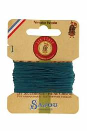 Waxed cable linen size 832 10m card - Colour 863 - Duck