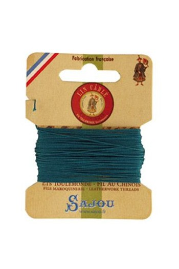 Fil Au Chinois waxed cable linen size 832 10m card - Colour 863 Duck