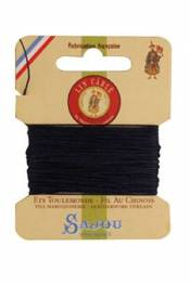 Waxed cable linen size 832 10m card - Colour 246 - Navy