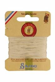 Waxed cable linen size 832 10m card - Colour 105 - Natural