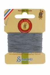Waxed cable linen size 832 10m card - Colour 992 - Mouse