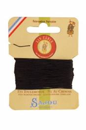 Waxed cable linen size 832 10m card - Colour 812 - Navy blue