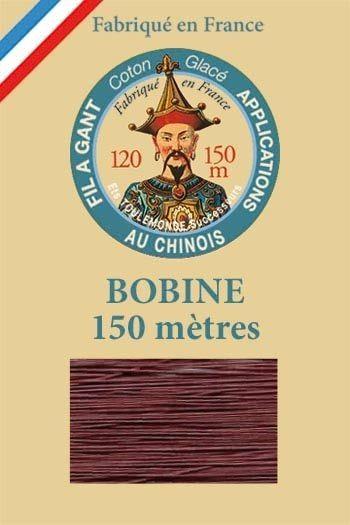 Fil à gant coton glacé Bobine 150 mètres Col. 458 - Prune
