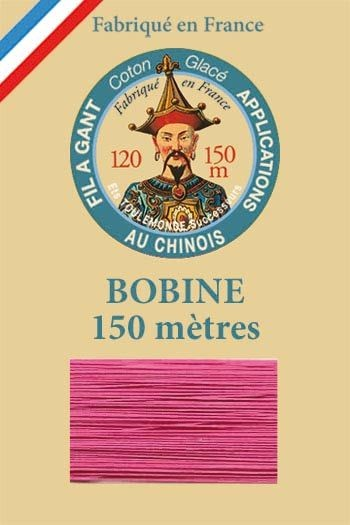 Gloving waxed cotton thread - 150m spool n°501 Fuchsia