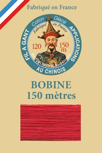 Gloving waxed cotton thread - 150m spool n°525 Red