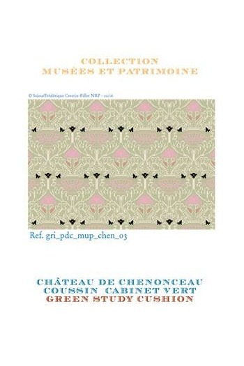 Sajou cross stitch pattern chart: the fabric from the Chenonceau Château green room