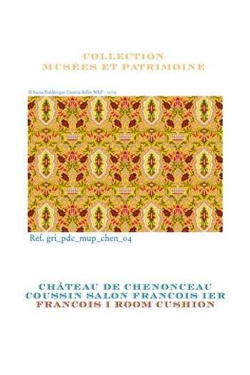 Sajou cross stitch pattern chart: the walls of the François I lounge at the Chenonceau Château
