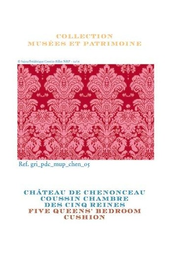 Sajou cross stitch pattern chart: cushion Five Queens' Bedroom at the Chenonceau Château