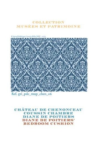 Sajou cross stitch pattern chart: Diane de Poitiers' bedroom at the Chenonceau Château