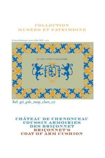 Grille de point de croix Sajou : les armoiries des Bohier/Briçonnet à Chenonceau