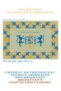 Sajou cross stitch pattern chart: The Bohier/Briçonnet coat of arms at Chenonceau