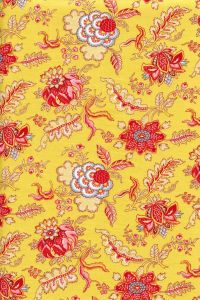 50 x 55cm swatch indienne fabric motif 5 on yellow