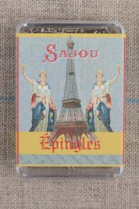 Sajou dressmakers' steel extra fine n°4 pins Eiffel tower