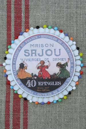 Rosette 40 glass headed pins - Sajou - Girls embroidering