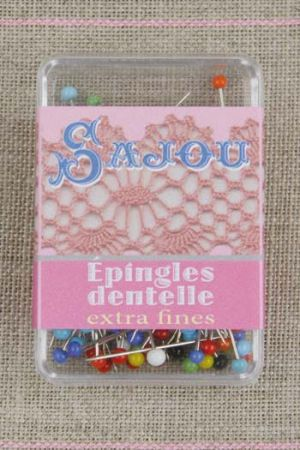 Extra fine glass headed pins - special for lace making