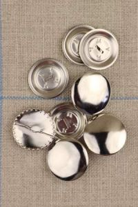 Metal buttons to cover - Size 22mm