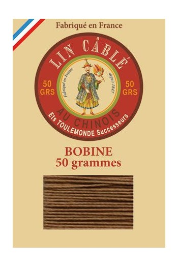 Fil Au Chinois waxed cable linen size 332 133m spool - Colour 374 Bronze