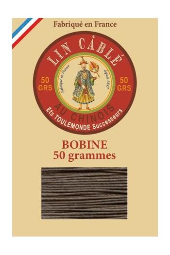 Fil de lin câblé glacé Fil Au Chinois n°432 Bobine 200 m - coloris 518 - Taupe