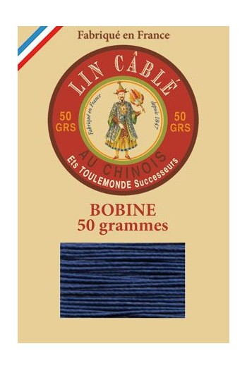 Fil Au Chinois waxed cable linen size 432 200m spool - Colour 667 - Night