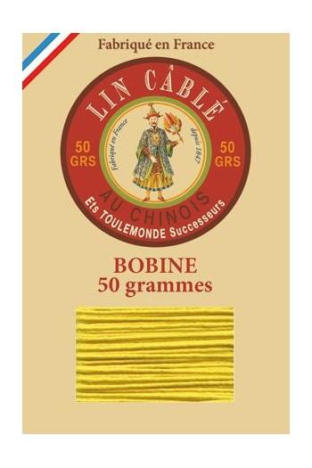 Fil de lin câblé glacé Fil Au Chinois n°532 Bobine 250 m - coloris 259 - Soleil