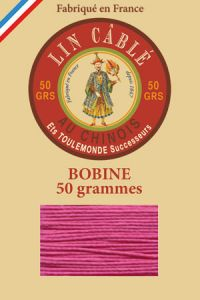 Fil Au Chinois waxed cable linen size 632 285m spool - Colour 125 - Peony