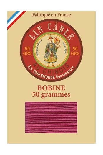 Fil Au Chinois waxed cable linen size 632 285m spool - Colour 190 - Rosewood
