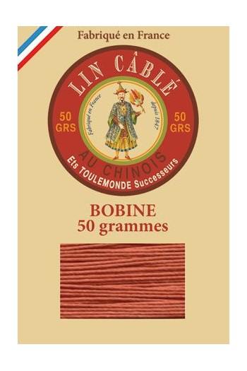 Fil de lin câblé glacé Fil Au Chinois n°832 Bobine 375 m - coloris 420 - Citrouille