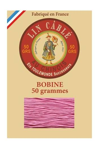 Fil Au Chinois waxed cable linen size 332 133m spool - Colour 200 - Pink