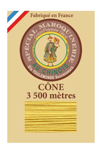 Fil Au Chinois leatherwork polycotton thread size 28/2 - 3 500m cone - Col. 239 Chicklet