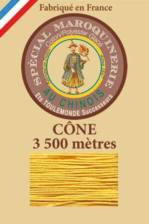 Leather polycotton thread size 28/2 - 3 500m cone - Col. 508 Yellow