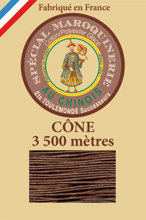 Leather polycotton thread size 28/2 - 3 500m cone - Col. 276 Brown
