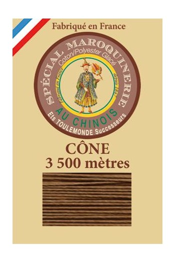 Fil Au Chinois leatherwork polycotton thread size 28/2 - 3 500m cone - Col. 374 Bronze