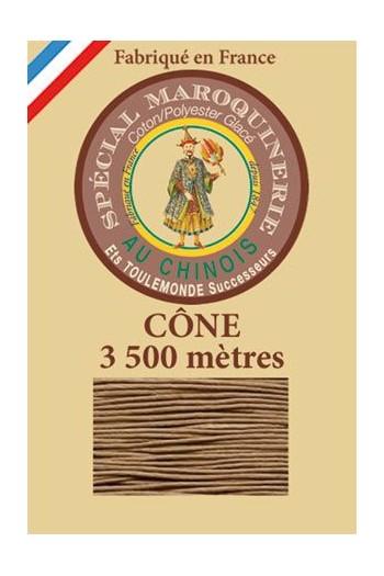 Fil-Au-Chinois Lederzwirn Stärke 28/2 Kone - 3 500 m Lauflänge 185 - Beige