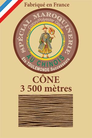Leather polycotton thread size 28/2 - 3 500m cone - Col. 185 Beige