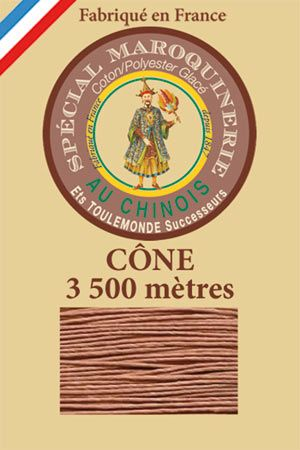 Leather polycotton thread size 28/2 - 3 500m cone - Col. 330 Fawn