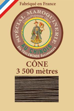 Leather polycotton thread size 28/2 - 3 500m cone - Col. 518 Mole