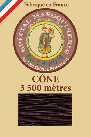 Leather polycotton thread size 28/2 - 3 500m cone - Col. 369 Soil