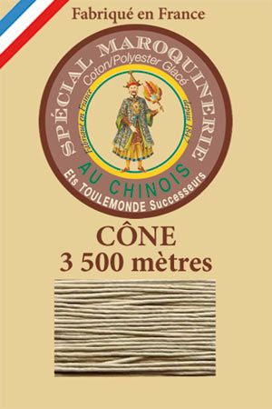Leather polycotton thread size 28/2 - 3 500m cone - Col. 359 Grey