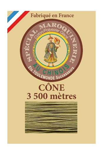 Fil Au Chinois leatherwork polycotton thread size 28/2 - 3 500m cone - Col. 643 Moss