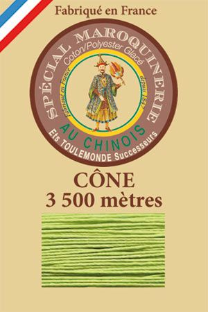 Leather polycotton thread size 28/2 - 3 500m cone - Col. 455 Light green