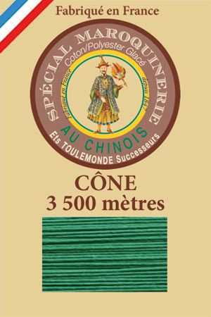 Leather polycotton thread size 28/2 - 3 500m cone - Col. 436 Lawn