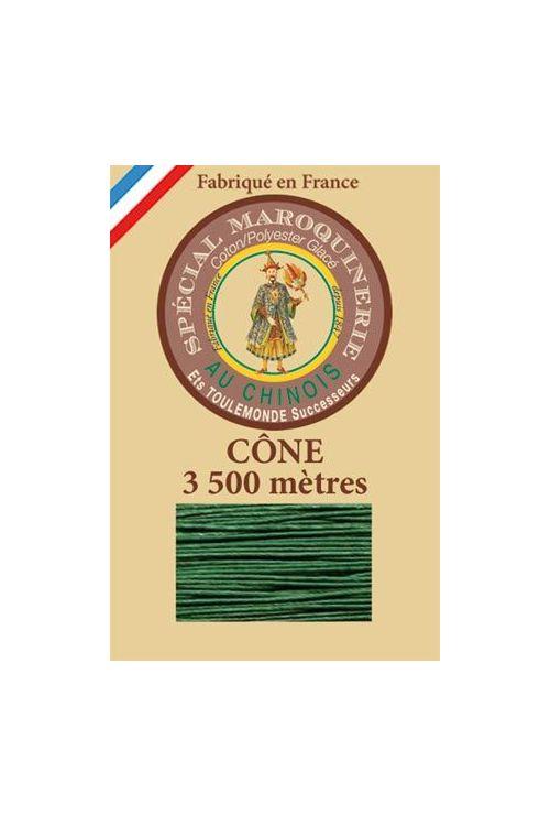 Fil Au Chinois leatherwork polycotton thread size 28/2 - 3 500m cone - Col. 767 Green