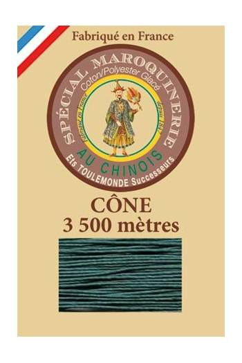 Fil Au Chinois leatherwork polycotton thread size 28/2 - 3 500m cone - Col. 750 Peacock