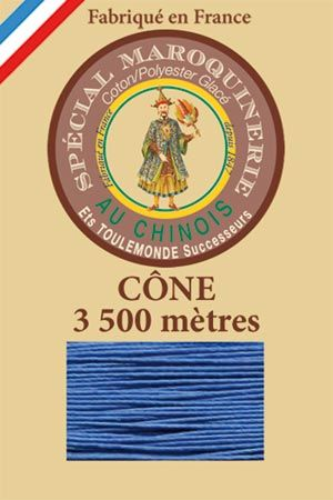 Leather polycotton thread size 28/2 - 3 500m cone - Col. 665 Royal blue