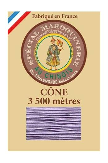 Fil Au Chinois leatherwork polycotton thread size 28/2 - 3 500m cone - Col. 497 Mauve