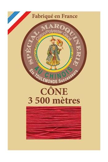Fil Au Chinois leatherwork polycotton thread size 28/2 - 3 500m cone - Col. 128 Red