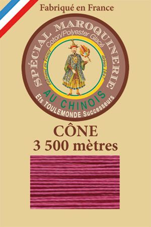 Leather polycotton thread size 28/2 - 3 500m cone - Col. 190 Rosewood