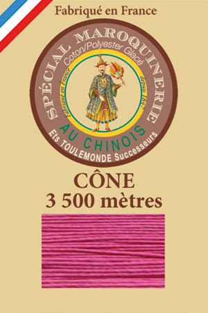 Leather polycotton thread size 28/2 - 3 500m cone - Col. 125 Peony
